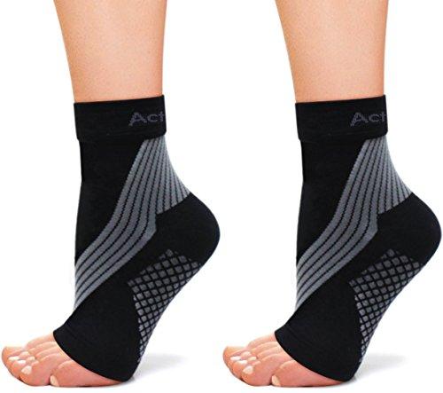 ActivSocks Knöchelbandage, Fußbandage | 1 PAAR | Kompressionssocken bei Achillessehnenentzündung, Plantarfasziitis, Fuß- & Fersenschmerzen | Verbesserte Durchblutung