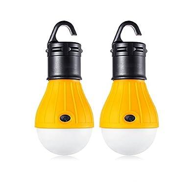 2Stück LED Camping-Laterne Leuchtmittel–Sun Run Zelt Lichter, Notfall Nacht Lampe für drinnen und draußen Wandern Angeln, tragbar, batteriebetrieben
