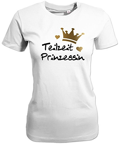 TEILZEIT PRINZESSIN - WOMEN T-SHIRT Weiß