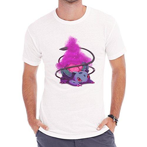 Pokemon Ivysaur Second Generation Purple Herren T-Shirt Weiß