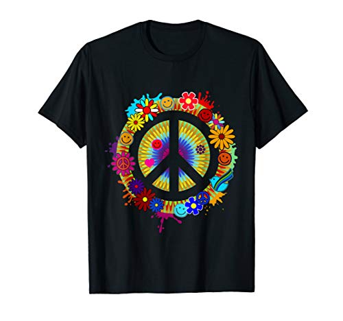 Flower Power Hippie Peace 60er 70er Jahre Motto Party Shirt