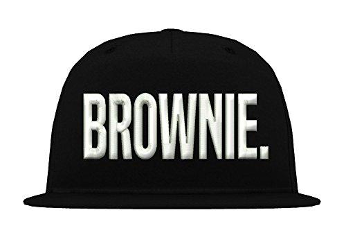 *5 Panel Snapback Cap Modell BROWNIE, Weiß-Schwarz, B610*