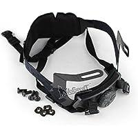 Caza Explorer casco rápido avanzado de repuesto accessory-chin correa hebilla de bloqueo Cabeza ajuste Suspensión sistema de retención, negro