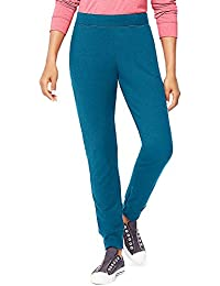 Hanes Women's Fashion French Terry Jogger Pants_Blue Oasis_L