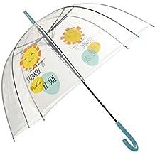 Hogar y Mas Paraguas Burbuja Transparente Original con Frase Divertida 85 X 80 CM