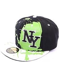 Snapback Ny Noir vert et blanc - Mixte