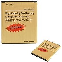 Donkeyphone - BATERIA INTERNA GOLD PARA SAMSUNG GALAXY S3 MINI GT-i8190 / TREND / TREND PLUS / ACE 2 GT-i8160 / S DUOS GT-S7562 DE RECAMBIO / REPUESTO DE LITIO CON ALTA CAPACIDAD 2800 MAH