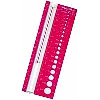 KnitPro - Misuratore per Ferri, Colore: Rosso