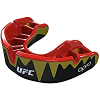 OPRO UFC - Protector bucal de Gel para Adultos, Adulto, Black Metal/Red