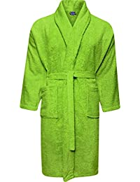 Mens and Ladies 100% Cotton Terry Toweling Shawl Collar White Bathrobe  Dressing Gown Bath Robe 41e1e73d0