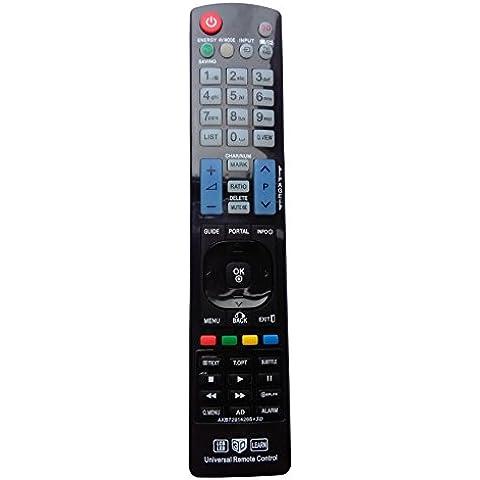 Vinabty AKB72914265 - Mando a distancia universal de repuesto con funciones preinstaladas para televisiones LCD, Plasma y LED, LG 32LD650H y 42LD650H, y la mayoría de televisiones LG