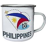 Nueva Filipinas Cámara De Fotos Retro, lata, taza del esmalte 10oz/280ml m445e