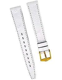 Fortis Reloj de pulsera piel blanco con costura blanca 14mm oro nuevo 8516