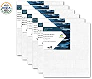 HomeStrap Cotton Canvas Board Medium Grain 5 X 7 Inch - Pack of 6 - White