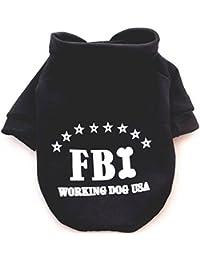 Demarkt Chien Manteau de Décontracté Tops à Manche Capuche en Dessin FBI 4 Tailles Rouge Noir Bleu Jaune Disponibles