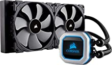 Corsair Serie Hydro H115i PRO RGB, Sistema di Raffreddamento a Liquido, Radiatore da 280 mm, Due Ventole PWM Serie ML da 140 mm, l'Illuminazione RGB, Compatibile con Socket Intel 115x/2066 e AMD AM4