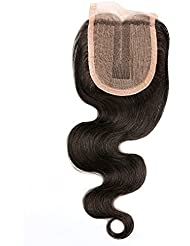 "BLISSHAIR Top Lace Closure Middle Part 3.5"" x 4"" Bresilien Vierges Extensions de Cheveux Humains Noir Naturels Body Wave 8"""