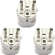 Travel Adaptor for KSA/US/UK/JP/CN/AU Plug Convert to EU/Germany Socket, KSA/US/UK/CA/JP/AU to 2-Pin European