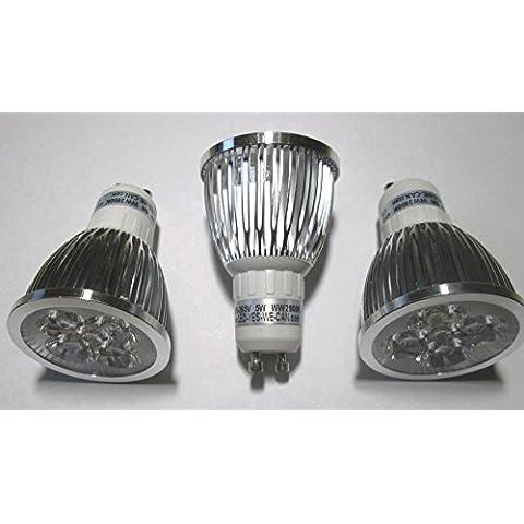 GU10attacco–85–265V 45° abstrahlung–Set risparmio di 3–5x 1W bianco caldo 2800K 375lm–Ricambio per 35W lampadine alogene.