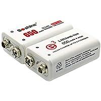 Soshine 2pcs Batería de potencia 6F22 9V Li-ion Litio 650mAh Química Batería recargable para instrumentos electrónicos