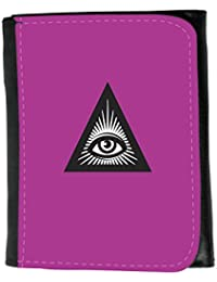 Small Faux Leather Wallet // Q07570621 all seeing eye 6 Byzantine // Small Size Wallet
