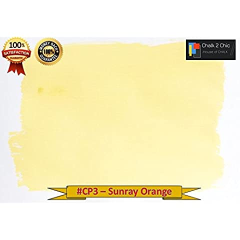 #2-CP3, gesso, 500 ml, 0,5 l, colore: arancione, eco un bosco nella luce del mattino, stile shabby chic invecchiato a base di gesso-Vernice per mobili