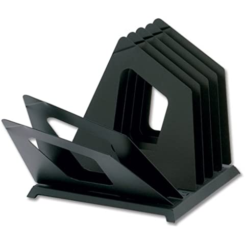 Rotadex Datafind-Classificatore portadocumenti in metallo con 7 divisori girevole DTF6-BK, colore: nero