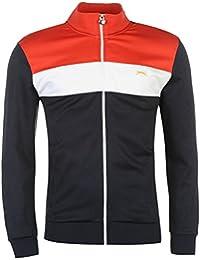 Slazenger Herren Courtside Retro Trainingsjacke Sweatjacke Jacke Taschen