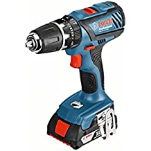 Bosch Professional Akku-Schlagbohrschrauber GSB 18-2-LI Plus (18 Volt, 2 x 2,0 Ah Akku, Max. Drehmoment 63 Nm, max. Schrauben-Ø 8mm, Schnellladegerät, L-Boxx), Schwarz/Blau/Rot, 06019E7100