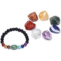 Jovivi Armband elastisch mit Heilkristallen, natürliche, rohe Chakra-Steine und 7 Chakra-Diffuser, Halbedelsteine... preisvergleich bei billige-tabletten.eu