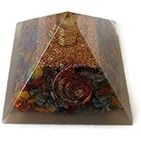Multi Edelstein Pyramide, Reiki Healing Chakra Pyramide, spirituelle Energetische Pyramide mit Bergkristall-Point... preisvergleich bei billige-tabletten.eu
