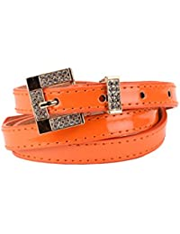 Tiekart women orange stone overlaid belt