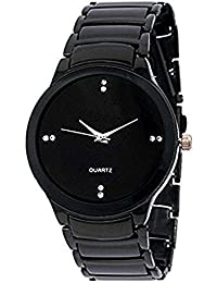 Style Keepers New Arrival Festive Season Special Analog Black Dial Black Stainless Steel Chain Strap Party Wedding...