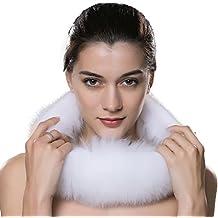 URSFUR Bufanda espesa de mujeres piel y pelo de zorro suave moda nueva estilo