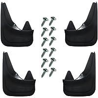 4guardabarros delanteros y traseros moldeados, universales, de buena calidad, incluyen tornillos