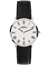 Michel Herbelin Damen Analog Quarz Uhr mit Leder Armband 16915/01