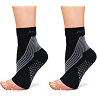 ActivSocks Ankle Support Compression Sleeves | PAIR of Pressure Therapy Socks for Achilles Tendonitis, Plantar Fasciitis and Foot/Heel Pain Relief