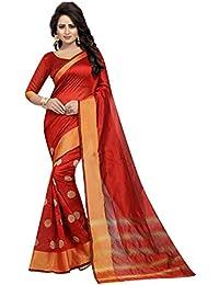 J B Fashion Women's Cotton Silk Saree With Blouse Piece