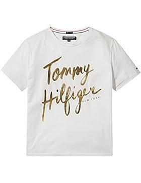 Tommy Hilfiger AME Hilfiger Tee S/S, Camiseta Para Niñas