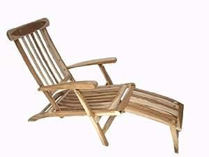 Deckchair Gartenliege Teakliege - Ausstellungsware -