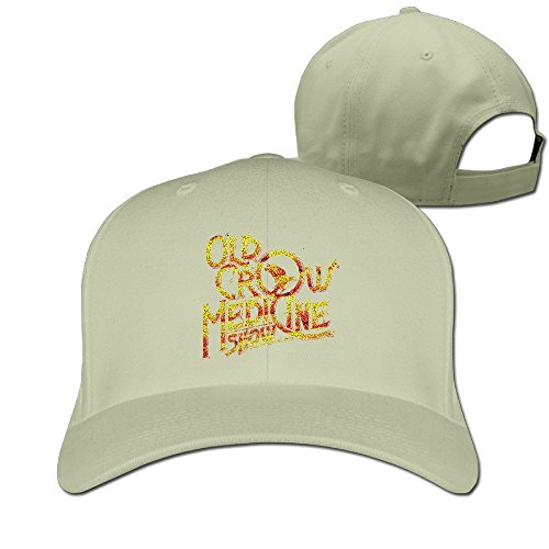 thna-old-crow-medicine-show-band-logo-adjustable-fashion-baseball-cap-natural