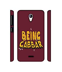 NattyCase Being Gabbar Design 3D Printed Hard Back Case Cover for Micromax Canvas Unite 2 A106