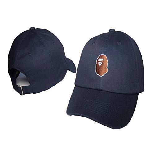 sdssup Sombreros para Hombres y Mujeres Gorras Marea Gorras de béisbol Sombreros para el Sol al Aire Libre Azul Ajustable