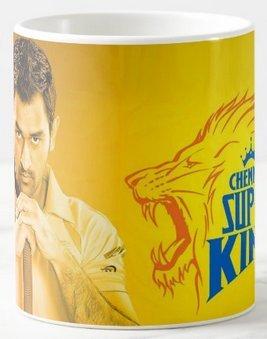 Mott2 - Indian IPL T20 Chennai Super Kings (CSK) Dhoni (MSD) Fan Club - Printed Ceramic Coffee Mug - Mugiplcsk17