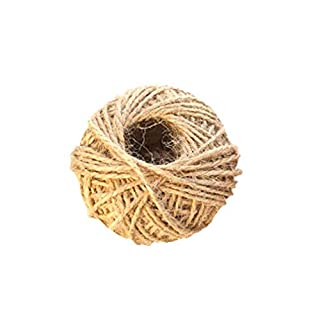 Taylor Kelsen 30M Natural Jute Twine Wrap Gift Thick Hemp Rope Jute Code String Ball for Floristry, Tags, Gifts, Greeting Card, DIY Arts&Crafts, Garden, Decoration (Brown)