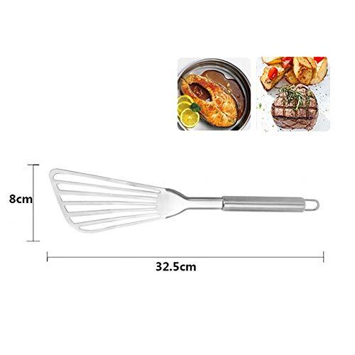 Edelstahl Flipper Fish Shovel, Küche Fish Turner Spatel Perfekt zum Wenden und Drehen von Werkzeugen Fish Turner