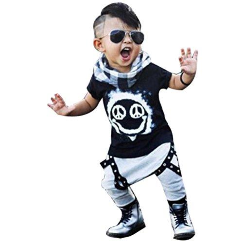 1 Set Toddler bambini neonato maschio maglietta parti superiori + pantaloni lunghi pantaloni Outfits abbigliamento (3 Anni)