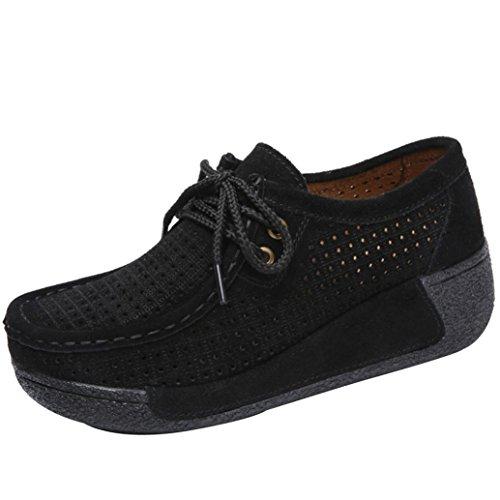 Baskets Compensées Femme Chaussures Bateau,Overdose Soldes Automne Hiver Fille Sport Chaussures à Talons Semelle Épaisse Casual Sneakers