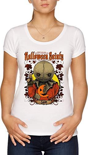 Halloween Saints Sam Damen T-Shirt Weiß