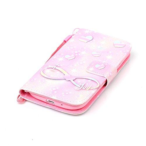 Meet de Samsung Galaxy S3 i9300 i9305 Bookstyle Étui Housse étui coque Case Cover smart flip cuir Case à rabat pour Galaxy S3 i9300 i9305 Coque de protection Portefeuille - this iphone is locked slide Rose illimité